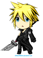Cloud Chibi by HikariNOSora