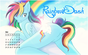 Rainbow Dash June Calender by OhMyBree