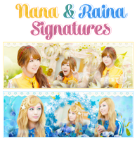 Nana and Raina Signs by Know-chan