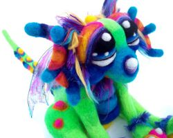 Little Rainbow Julip Dragon by Tanglewood-Thicket