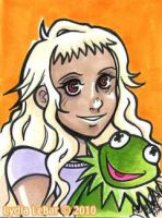 ECCC Sketchcard 6- AuraKermit by Lilly-Lamb