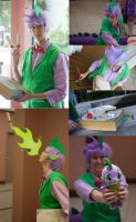 MLP: FiM - Spike the Dragon Costume by Kairillia