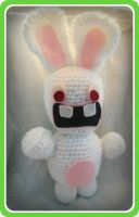 Raving Rabbid Amigurumi by Ashler-Sauce