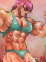 Summer Muscle by MikazukiArt