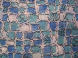 Vintage blue block fabric by SolStock