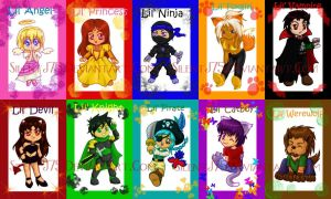 Chibi Trading Cards by SilentJ75