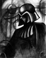 Darth Vader in Charcoal by brandi007