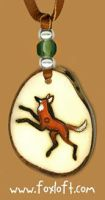 Kalak - Maned Wolf - Pendant by Foxfeather248