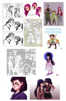 Feb 2014 Art Dump by chocowaffle