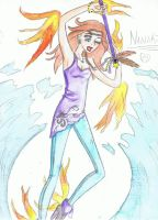 Oceans on fire - Nanaki by Lady-Fayble
