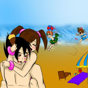 Fun at the beach by TheMessangerVIII