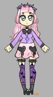 Pastel goth themed custom adopt by lesbian-mermaid