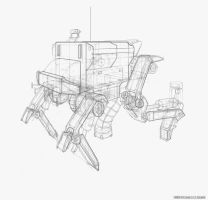 Garbage Mech Lineart by ActualRobot