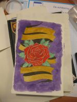 Rose watercolor by ScribblingTend