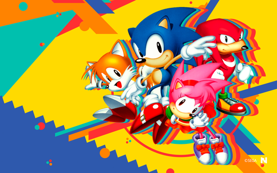 Sonic Mania - Wallpaper [Classic Team] by NathanLaurindo