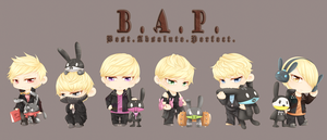 BAP - Chibi Warriors by trace-xing