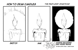 How to draw candles by Fruitloop-chan
