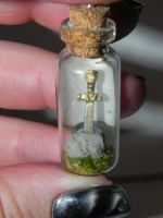 Merlin, The Sword in the Stone Bottle Necklace, TV by Secretvixen