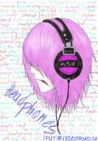 Headphones by xFannyx