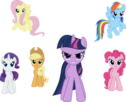 ponies by starboltpony