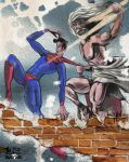 Anachronistic fresco Zeus fighting with Superman by eldesertor