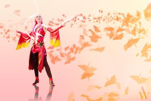Paper Cranes - Inori Yuzuriha (Guilty Crown) by AndyWana