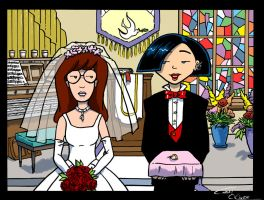 Daria and Jane at the altar by Christo-LHiver