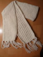 White Wool Scarf by Solvash