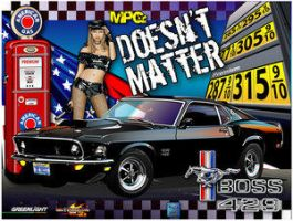 69 BOSS Mustang poster by Club-Vector