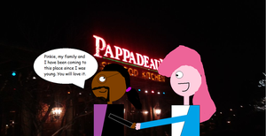 Taking Pinkie Pie to Pappadeaux by mylesterlucky7