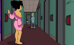 Amy and Bender - Eagerly Awaiting by Spider-Matt