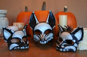 Fox and Cat Masks by nondecaf