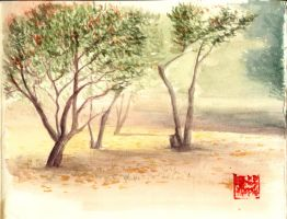Watercolor Park by ritam
