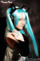 Hatsune Miku Cosplay +close up by Makiiiii