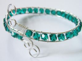 Sterling silver and crystal Bracelet by NorthStarCherry