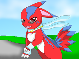 konishito the DxElecmon by HeroHeart001