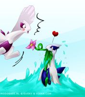 Lugio and Lugia by sushy00