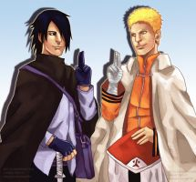 !NARUTO SPOILER IMAGE! - Naruto And Sasuke End by ManishaChan