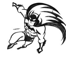 Batman Preliminary Sketch by LostonWallace