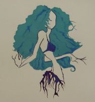 Blue Belly Dancer by Contrapposto
