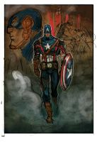 Captain First Avenger Color by JohnTimms