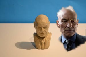 Charles Xavier mini bust Sketch by AgustinQuetto