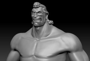 Another 3D Brock WIP by FoxHound1984