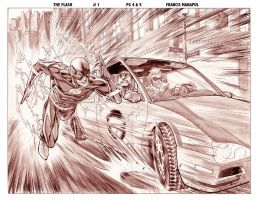 The Flash 1 preview pg 3n4 by manapul