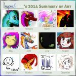 2014 Summary of art by dragonneGlacia