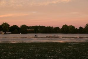 A Row On the River At Sunset 2 by Miss-Tbones
