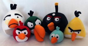Angry Birds Plush Patterns by brunodarkdevil
