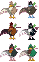 PKMN: Farfetch'd Variations by Phantomania