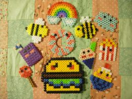 perler bead trial five by seadworp