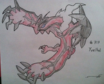 Yveltal (Drawing) by Dianamond